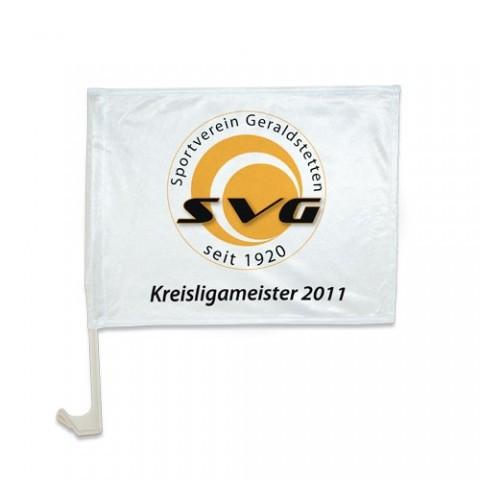 PREMIUM Autoflagge inkl. Druck 40x30 cm